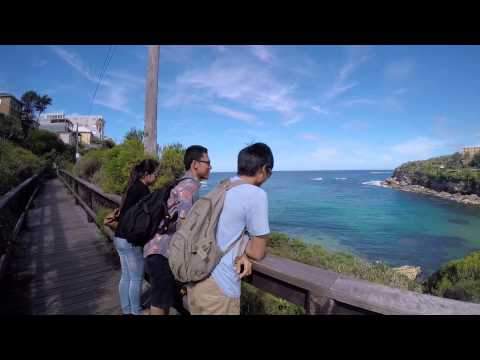 Sydney trip - walking from coogee beach to bronte beach during summer