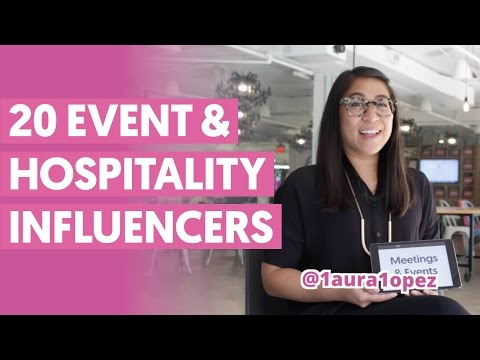 20 Social Media Influencers in Meetings, Events, and Hospitality
