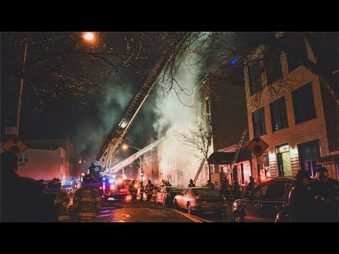 FDNY - Box 133 - Fatal 5 Alarm Fire in Williamsburg, Brooklyn