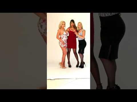 Nina Elle, Mercedes Carrera & Sarah Vandella behind the scenes! from YouTube · Duration:  20 seconds