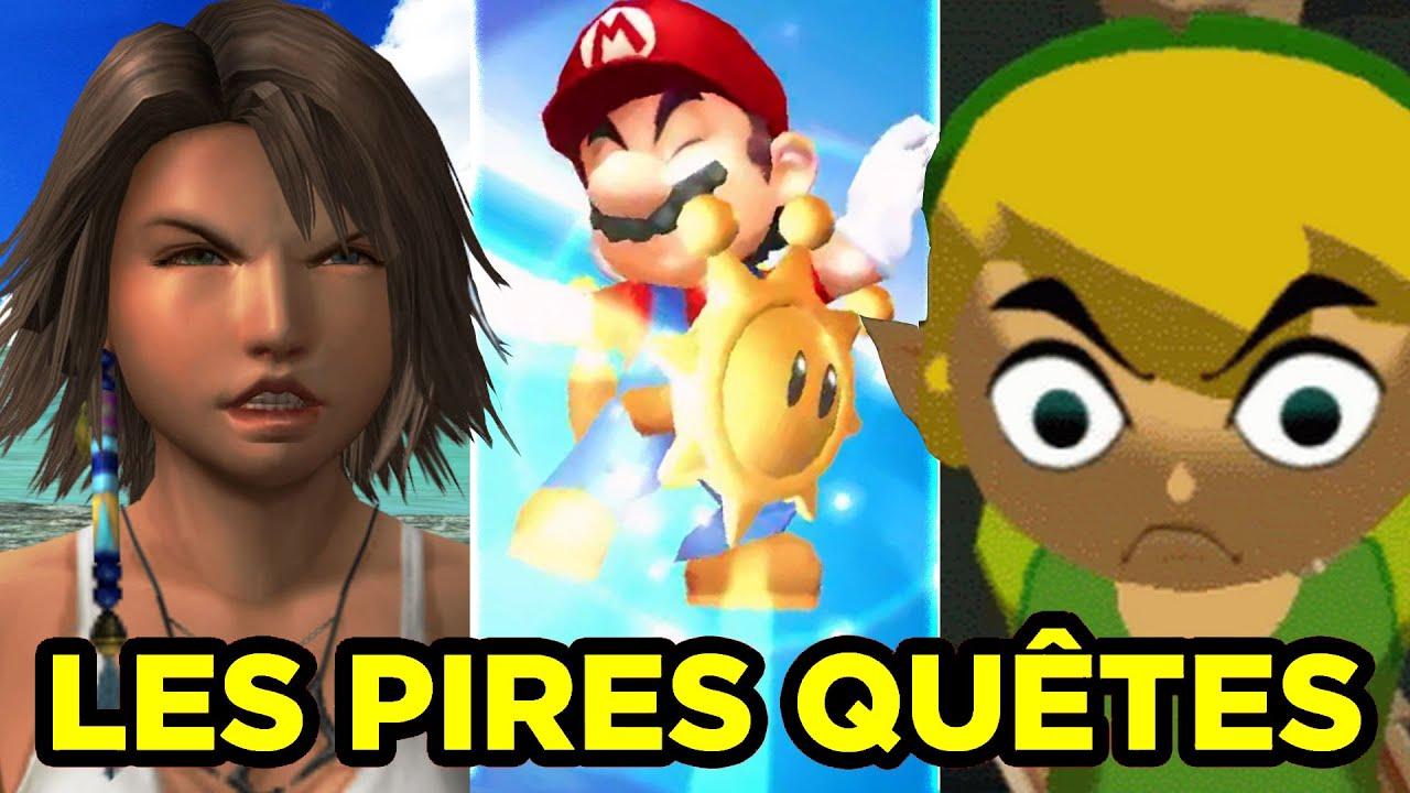 Les PIRES QUÊTES de Zelda, Mario, Final Fantasy