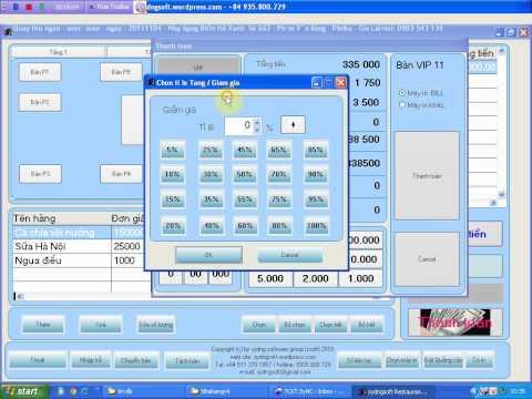 Miễn phí phần mềm quản lý bán hàng, nhà hàng cafe, karaoke,bida