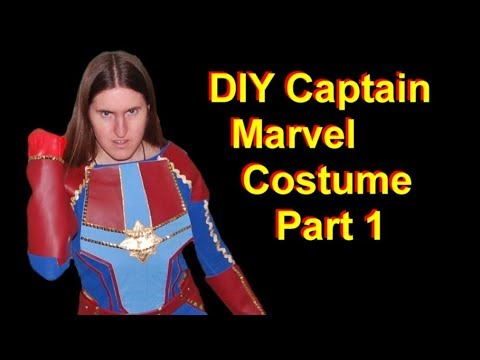 Diy Captain Marvel Costume Part 1 Top And Gloves Youtube What's cooler than dressing up in a captain marvel costume this halloween? diy captain marvel costume part 1 top and gloves