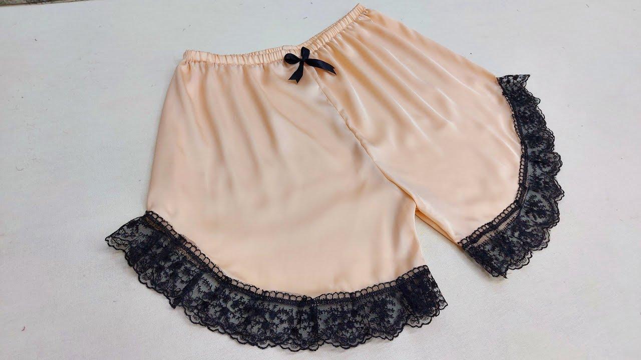 تفصيل و خياطة شورت نسائي روعة - Cut and sew women's shorts