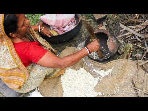 Muri Vaja - How they Make Puffed Rice at Village