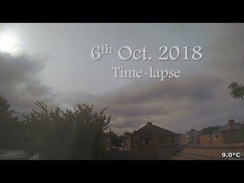 6 October 2018 Time-lapse