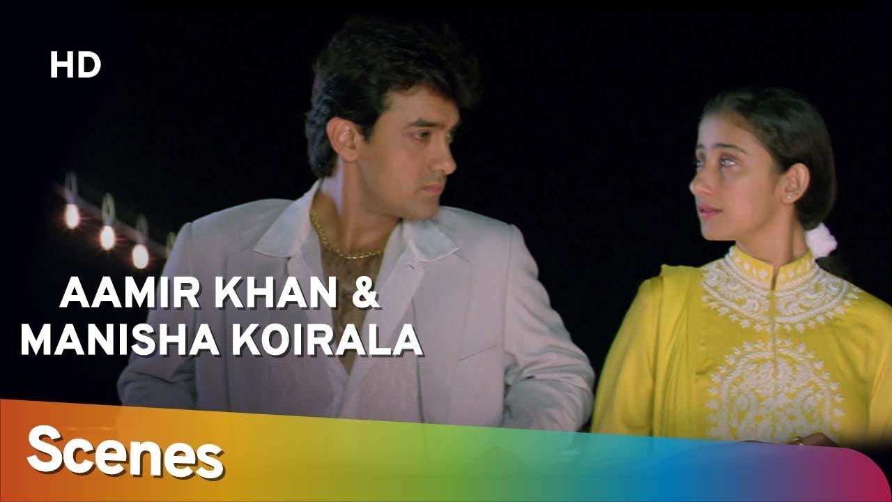 Download Aamir Khan & Manisha Koirala scenes from Mann -  Superhit 90's Romantic Movie