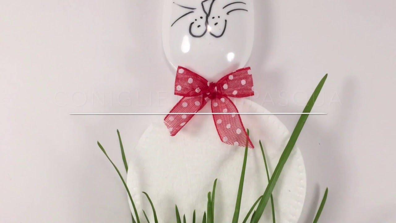 Come fare i coniglietti di pasqua con dischetti levatrucco - Modelli di coniglietto pasquale gratis ...
