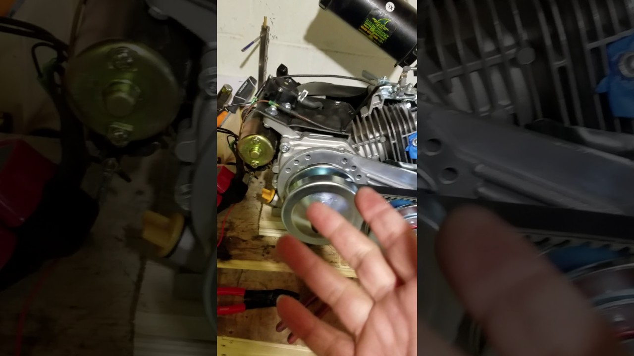Harbor Freight 6 5hp Predator with Torque Converter Clutch and Electric  Starter Installed - Finally!