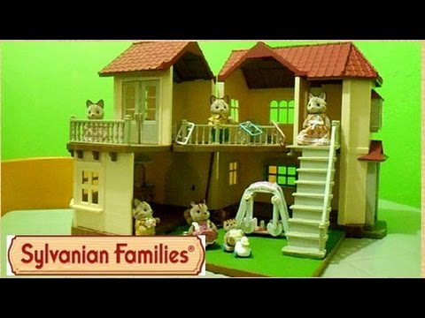 Sylvanian Families City House with Lights Gift Set -Kids ...