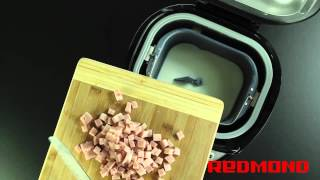 Рецепты от Redmond: Хлеб с ветчиной и сыром (RBM-M1902)