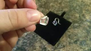 EleShow Sterling Silver Earring with Crystal