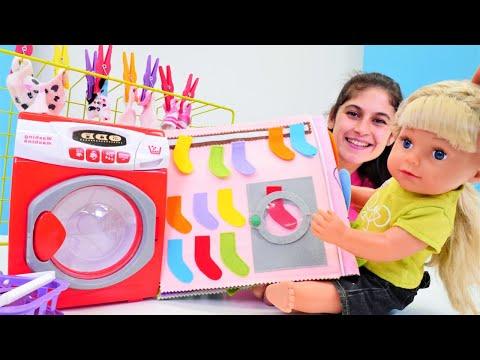 Bebek bakma oyunu. Ayşe ve Gül çamaşır yıkıyorlar! Çocuk videosu
