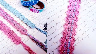 CROCHET BOOKMARK (STEP BY STEP TUTORIAL) Easy & quick crochet bookmark!