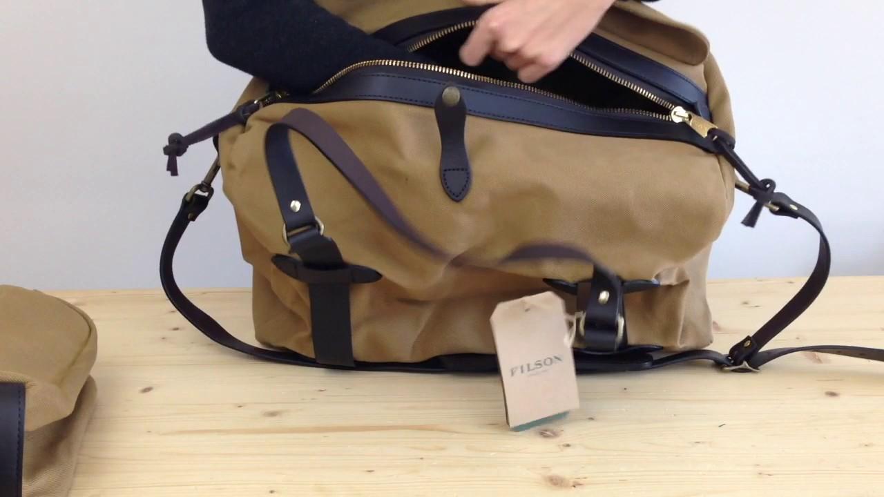 301f62b7e5 Filson Carry On Duffle Bag Medium - YouTube
