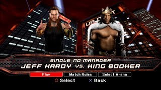 WWE SmackDown VS Raw 2008 PS3 Gameplay - Jeff Hardy VS King Booker [FullHD]
