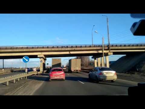 Проезд по трассе М7 через Лукойл и Кстово к Ветчаку и месту затора мосту через Кудьму