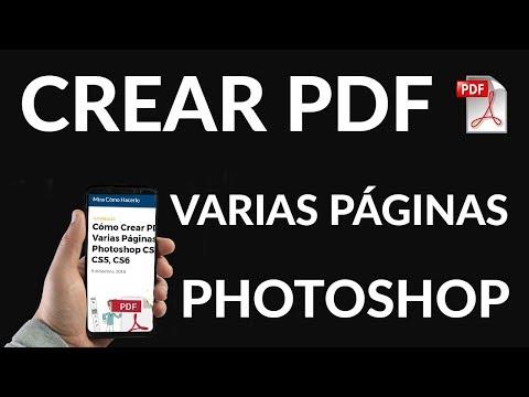 Cómo Crear PDF de Varias Páginas en Photoshop CS3, CS4, CS5, CS6