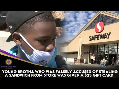 Young Brotha Who Was Falsely Accused Of Stealing A Sandwich From Store Was Given A $25 Gift Card