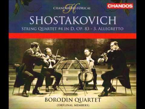 Shostakovich: String Quartet No. 4 in D, Op. 83 (Borodin Quartet)