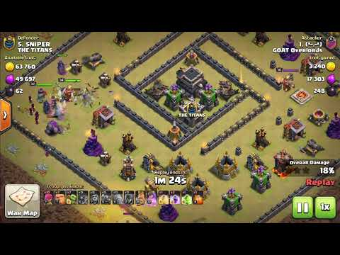 GOAT Overlords vs The Titans P.1 - Clash of Clans War Review
