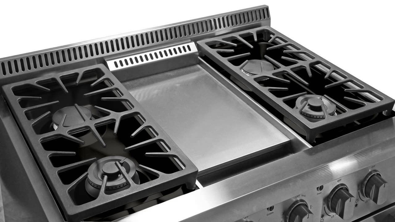thor kitchen hrg3609u 36 gas range convection oven in stainles youtube