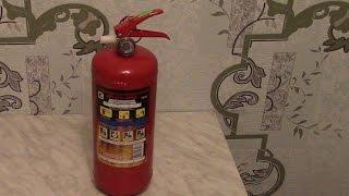 видео Автомобильный огнетушитель ОП-2(з) порошковый