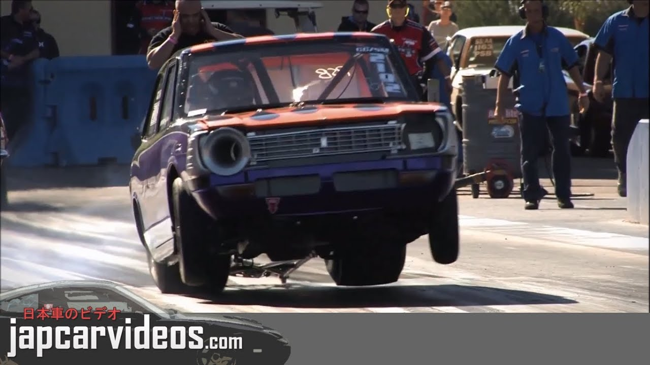 JDM Drag Racing - Rotary, V6, V8 and Turbo Sounds on the 1/4 Mile ...