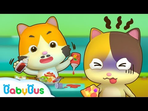 Baby Kitten Creates New Recipes | Cooking Pretend Play | Ice Creams, Hamburger Song | BabyBus