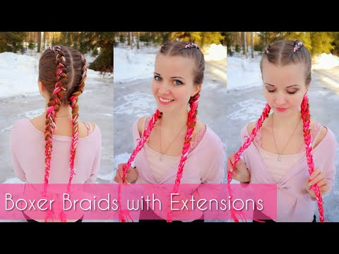 Dutch Braids with Extensions | How to Hair DIY
