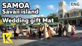 【K】Samoa Travel-Savaii island[사모아 여행-사바이섬]결혼식 최고의 선물 돗자리/Wedding gift/Mat