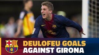 A young Gerard Deulofeu's goals against Girona