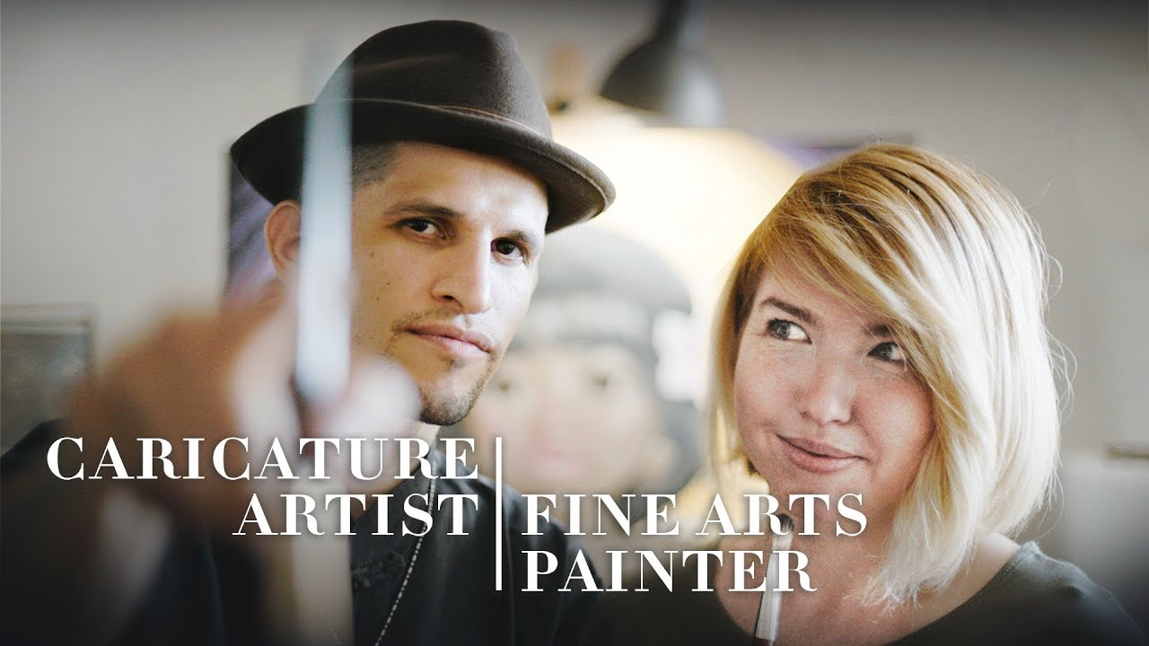 Caricaturist & Fine Arts Painter Fuse Styles Into One Canvas