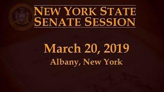New York State Senate Session - 03/20/19