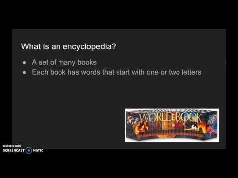 Dictionaries vs. Encyclopedias