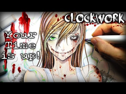 Clockwork Your Time Is Up STORY  Creepypasta + Drawing