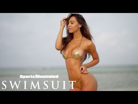 Alexis Ren Feels Like a Diva in this Tiny Gold Swimsuit | CANDIDS | Sports Illustrated Swimsuit