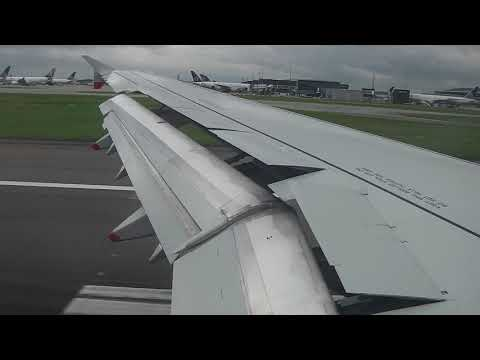 British Airways Airbus A321-231 landing at London/Heathrow Airport 07/08/2017