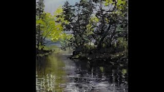 Riverbank - Time Lapse Painting