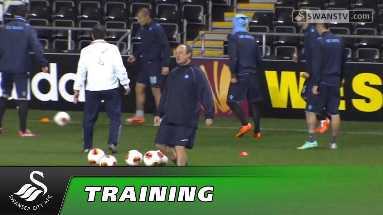 S S C Napoli: Swansea City Video: S.S.C Napoli Training Europa League