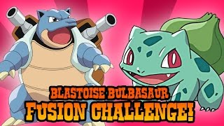 How to Draw Blastoise and Bulbasaur Fusion | ART CHALLENGE
