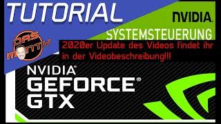 Tutorial Nvidia Systemsteuerung Treiber 3D-Einstellungen der GeForce GTX Grafikkarten - Das Monty