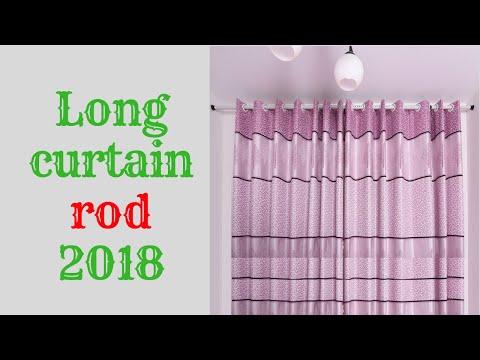Long curtain rod