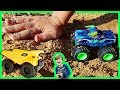 Unboxing Toy Monster Trucks and Construction Trucks for Kids and Playing