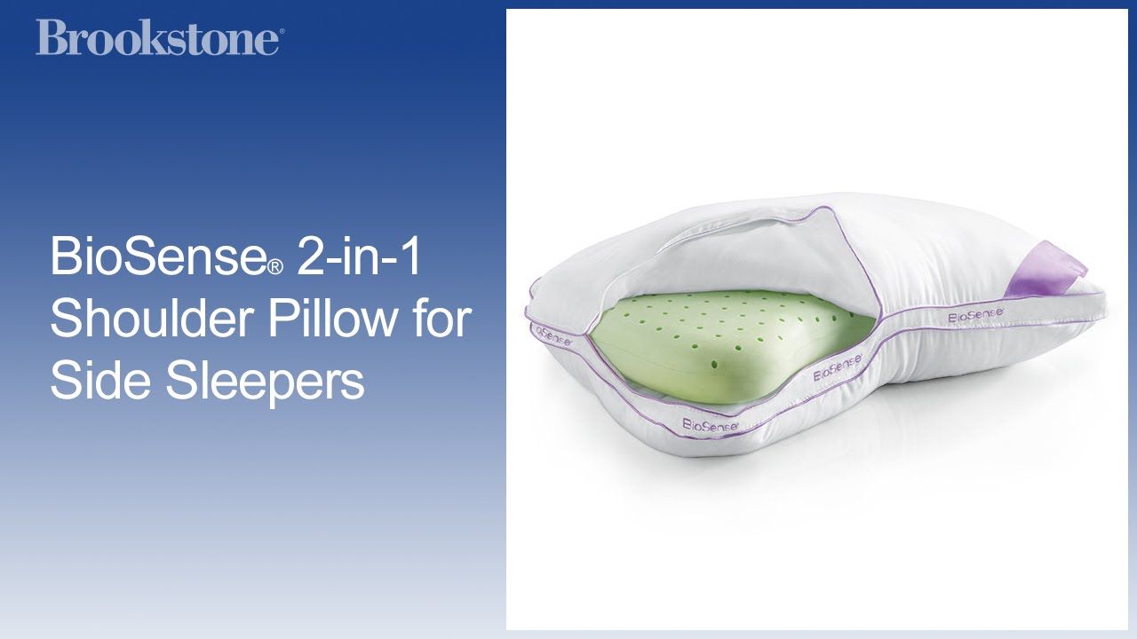 biosense 2 in 1 shoulder pillow for side sleepers