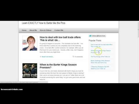 How to Barter on Craigslist  - New blog giving free Bartering tips on how to trade up on Craigslist