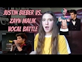 Zayn Malik VS Justin Bieber Vocal Battle Reaction