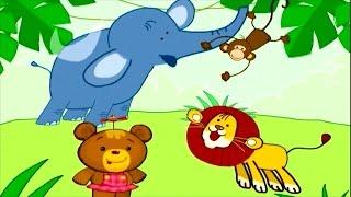 Обучающее видео для детей. Учим животных (в море, на небе, в джунглях) Часть 3