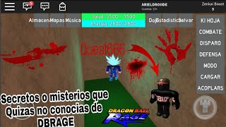 Mysteries or Secrets You Maybe Didn't Know About Dragon Ball Rage 0o Roblox