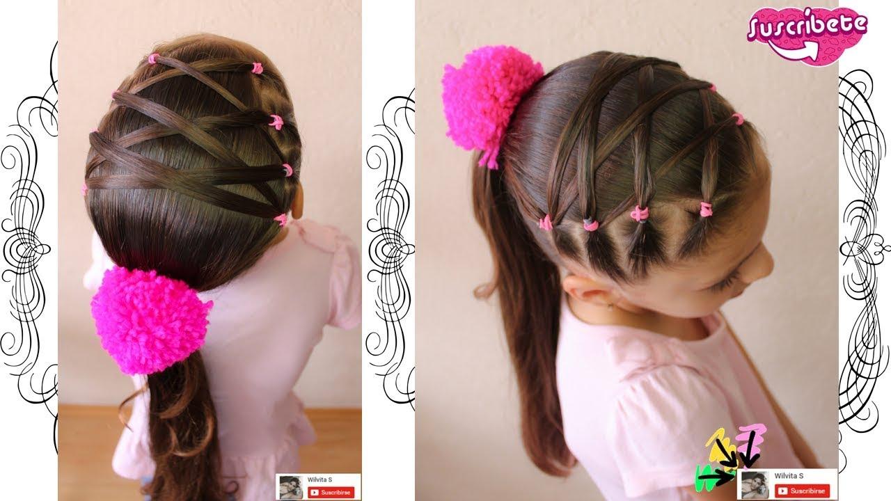 Espectacular peinados de niña Fotos de cortes de pelo Ideas - Peinado fácil para niña / Easy hairstyle for girl Back to ...